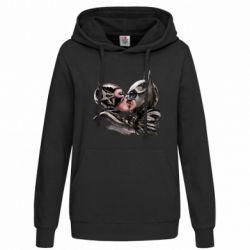 Женская толстовка Batman and Catwoman Kiss