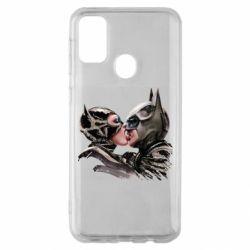 Чехол для Samsung M30s Batman and Catwoman Kiss
