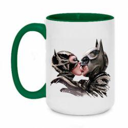 Кружка двухцветная 420ml Batman and Catwoman Kiss