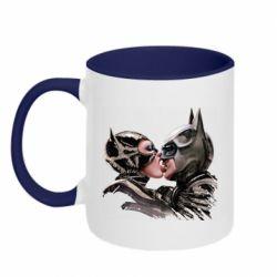 Кружка двухцветная 320ml Batman and Catwoman Kiss