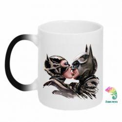 Кружка-хамелеон Batman and Catwoman Kiss