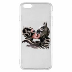 Чехол для iPhone 6 Plus/6S Plus Batman and Catwoman Kiss