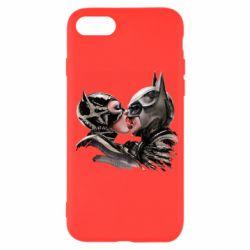 Чехол для iPhone 7 Batman and Catwoman Kiss