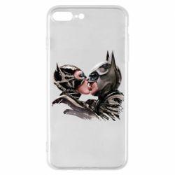 Чехол для iPhone 7 Plus Batman and Catwoman Kiss