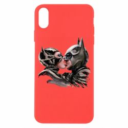 Чехол для iPhone X/Xs Batman and Catwoman Kiss