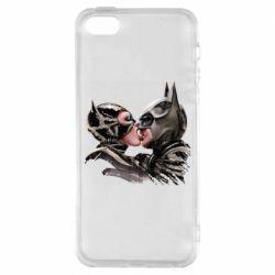 Чехол для iPhone5/5S/SE Batman and Catwoman Kiss