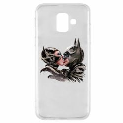 Чехол для Samsung A6 2018 Batman and Catwoman Kiss