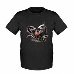 Детская футболка Batman and Catwoman Kiss