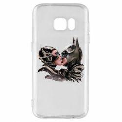 Чехол для Samsung S7 Batman and Catwoman Kiss