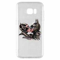 Чехол для Samsung S7 EDGE Batman and Catwoman Kiss