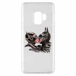 Чехол для Samsung S9 Batman and Catwoman Kiss
