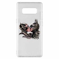 Чехол для Samsung Note 8 Batman and Catwoman Kiss