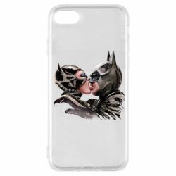 Чехол для iPhone 8 Batman and Catwoman Kiss
