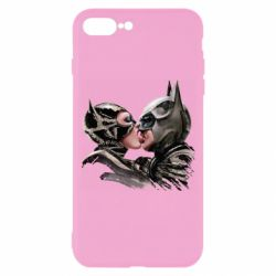 Чехол для iPhone 8 Plus Batman and Catwoman Kiss