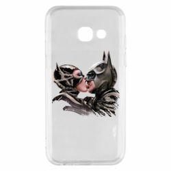 Чехол для Samsung A3 2017 Batman and Catwoman Kiss