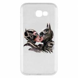 Чехол для Samsung A7 2017 Batman and Catwoman Kiss