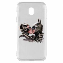 Чехол для Samsung J3 2017 Batman and Catwoman Kiss