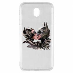 Чехол для Samsung J7 2017 Batman and Catwoman Kiss