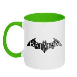 Кружка двухцветная 320ml Batman: arkham city