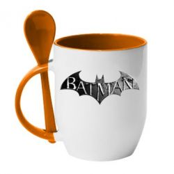 Кружка с керамической ложкой Batman: arkham city