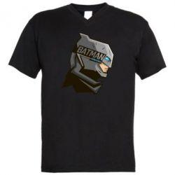 Мужская футболка  с V-образным вырезом Batman Armoured - FatLine