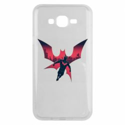 Чехол для Samsung J7 2015 Batman beyond and city