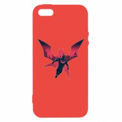 Чехол для iPhone5/5S/SE Batman beyond and city
