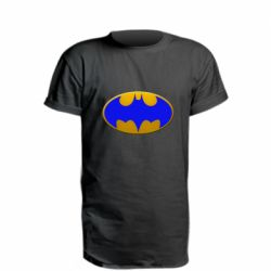 Удлиненная футболка Batman blue logo