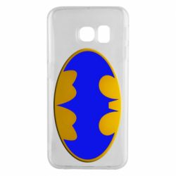 Чехол для Samsung S6 EDGE Batman blue logo