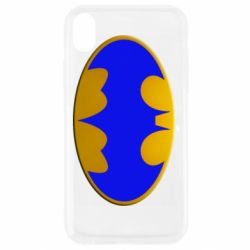 Чехол для iPhone XR Batman blue logo