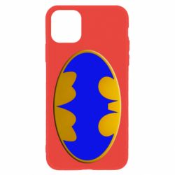 Чехол для iPhone 11 Batman blue logo