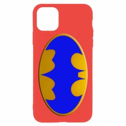 Чехол для iPhone 11 Pro Max Batman blue logo