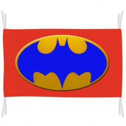 Флаг Batman blue logo