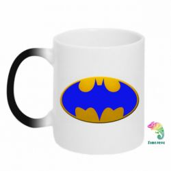 Кружка-хамелеон Batman blue logo