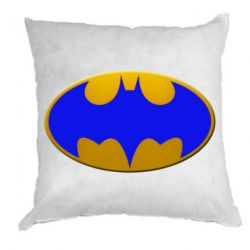 Подушка Batman blue logo