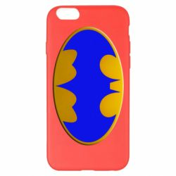 Чехол для iPhone 6 Plus/6S Plus Batman blue logo