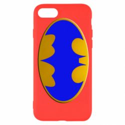 Чехол для iPhone 7 Batman blue logo