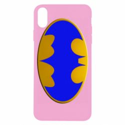 Чехол для iPhone X/Xs Batman blue logo