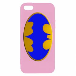 Чехол для iPhone5/5S/SE Batman blue logo