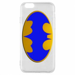 Чехол для iPhone 6/6S Batman blue logo
