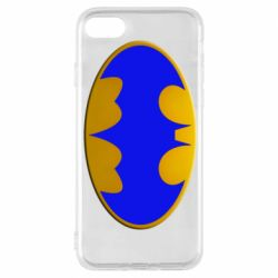 Чехол для iPhone 8 Batman blue logo
