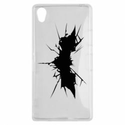 Чехол для Sony Xperia Z1 Batman cracks - FatLine