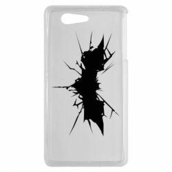 Чехол для Sony Xperia Z3 mini Batman cracks - FatLine