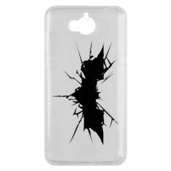 Чехол для Huawei Y5 2017 Batman cracks - FatLine