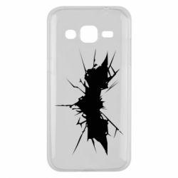 Чехол для Samsung J2 2015 Batman cracks - FatLine