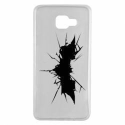 Чехол для Samsung A7 2016 Batman cracks - FatLine