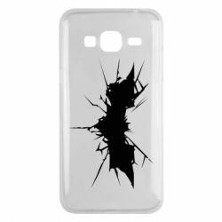 Чехол для Samsung J3 2016 Batman cracks - FatLine