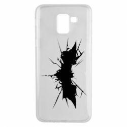Чехол для Samsung J6 Batman cracks - FatLine