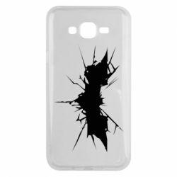Чехол для Samsung J7 2015 Batman cracks - FatLine