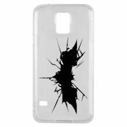Чехол для Samsung S5 Batman cracks - FatLine